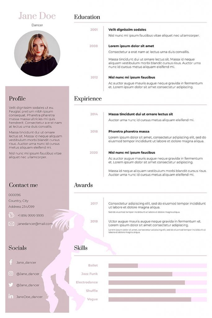 to write dance resume guideline examples college template template701 683x1024 policy Resume College Dance Resume Template