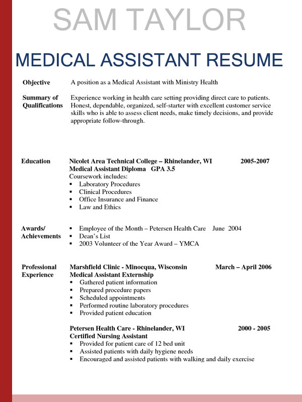 to write medical assistant resume in template sample curriculum vitae vs automation Resume Medical Assistant Resume Template