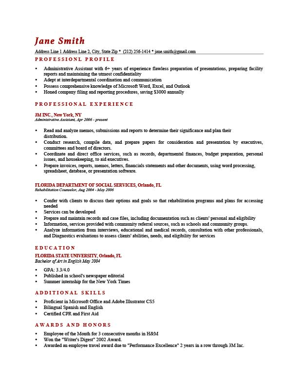 to write resume profile examples writing guide rg good for brick red template law school Resume Good Profile For Resume Examples