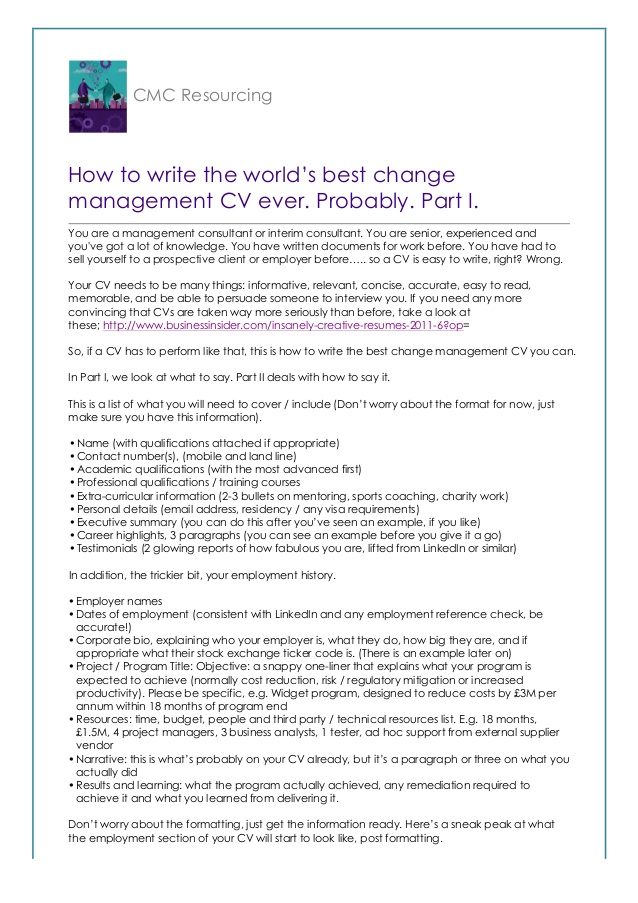 to write the world best change management cv probably resume in worlds service technician Resume Best Resume In The World