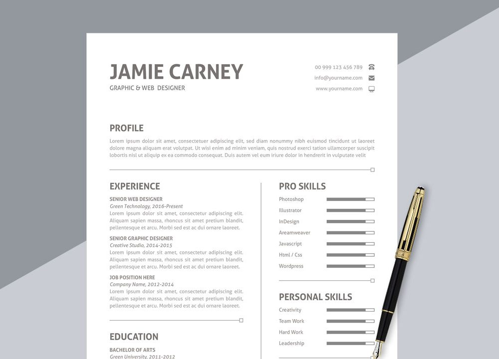 top best free resume templates to in webthemez simple format ms word 1000x720 expert Resume Best Resume In 2020