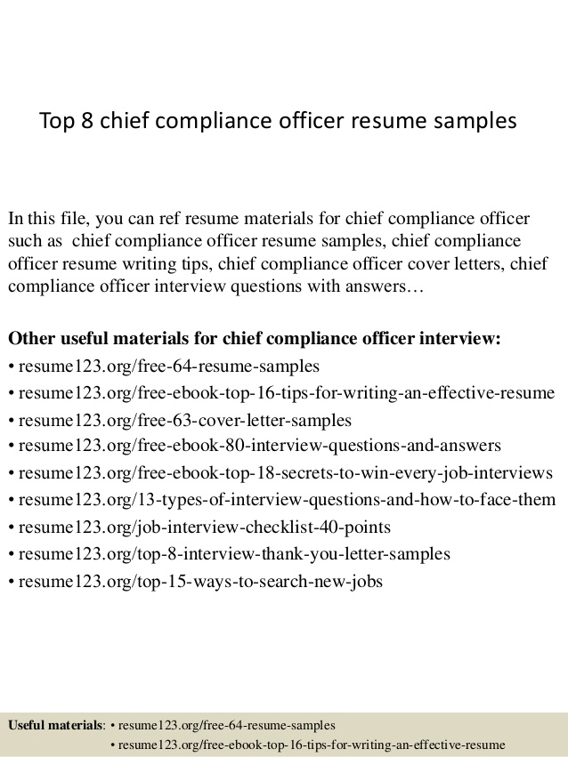 top chief compliance officer resume samples template linkedin on example objective for Resume Compliance Officer Resume Template