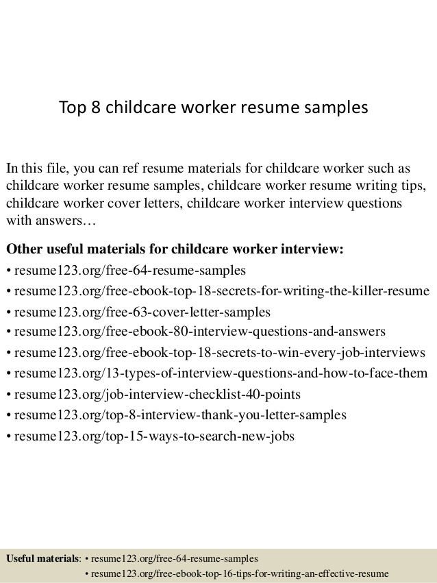 top childcare worker resume samples daycare salary requirements example employee Resume Daycare Worker Resume
