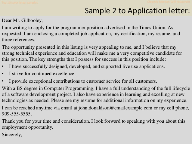 top chipotle mexican grill restaurant cover letter samples resume example adjunct Resume Chipotle Resume Example