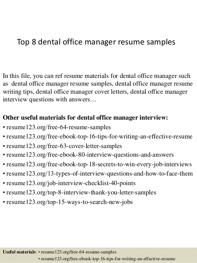 top dental office manager resume samples objective on for business internship tidyforms Resume Objective On Resume For Office Manager