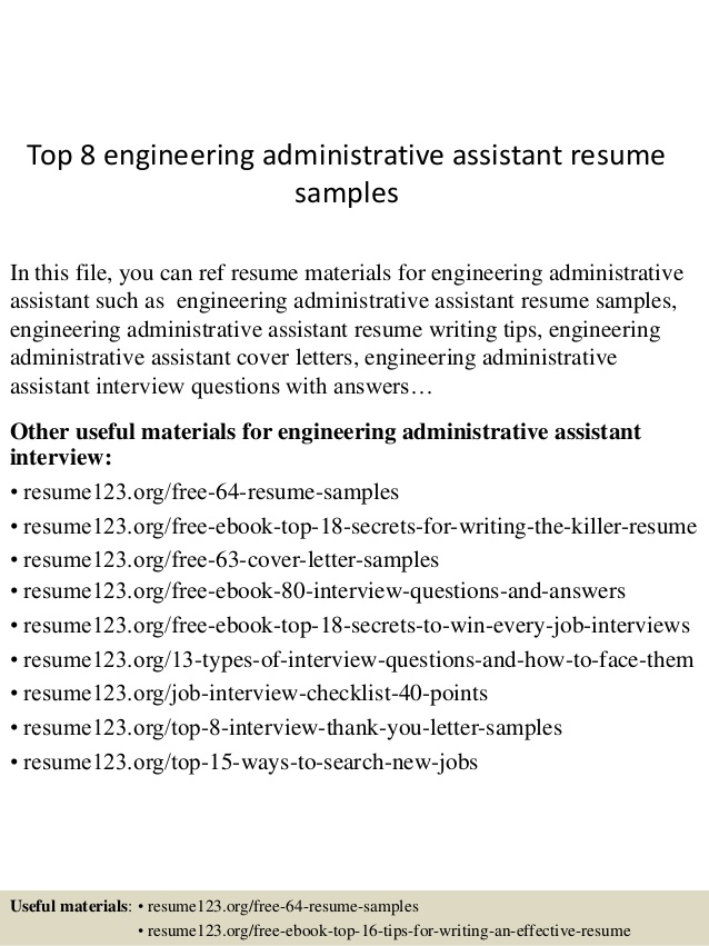 top engineering administrative assistant resume samples free easy graphic design builder Resume Administrative Assistant Resume