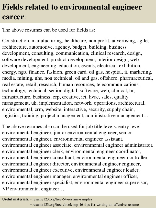 top environmental engineer resume samples for fresher whole foods screening tool software Resume Resume For Fresher Environmental Engineer