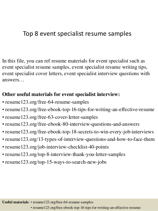 top event specialist resume samples dialysis technician with experience scholarship Resume Event Specialist Resume