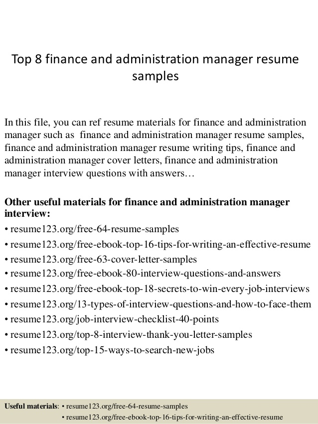 top finance and administration manager resume samples admin examples functional template Resume Admin Manager Resume Examples
