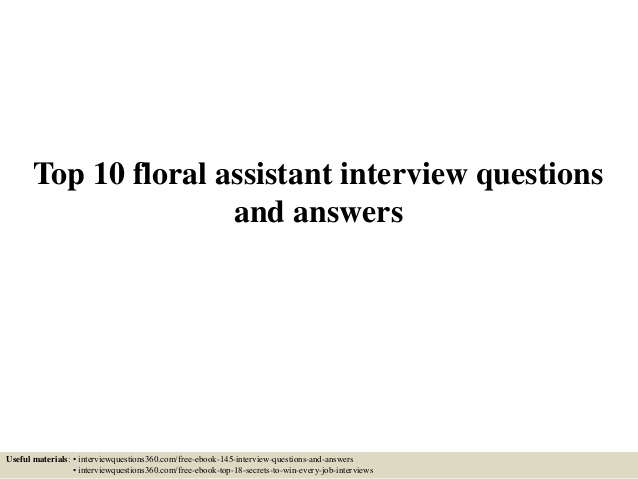 top floral assistant interview questions and answers resume beginner machinist profile Resume Floral Assistant Resume