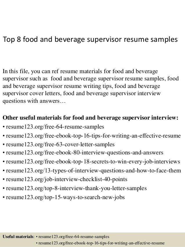 top food and beverage supervisor resume samples account executive olivia jade college the Resume Food And Beverage Resume
