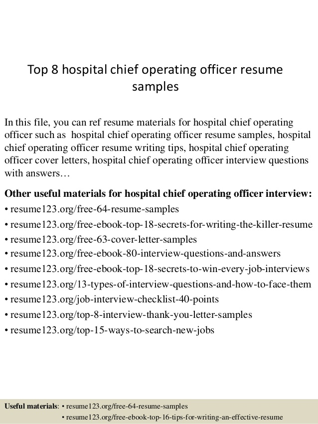 top hospital chief operating officer resume samples sample for graduate nursing school Resume Chief Operating Officer Resume