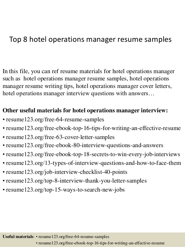 top hotel operations manager resume samples sample consultation services for restaurant Resume Operations Manager Resume Sample