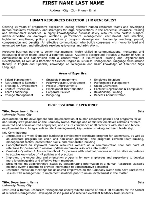 top human resources resume templates samples services template director generalist sample Resume Human Services Resume Template