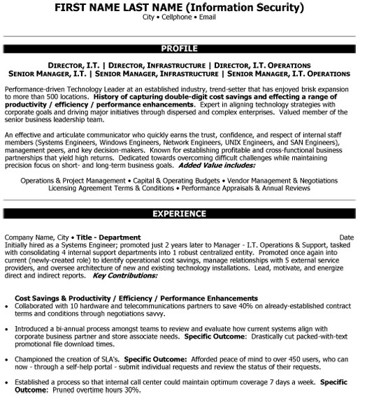 top information technology resume templates samples service it senior manager director Resume Information Technology Resume Service