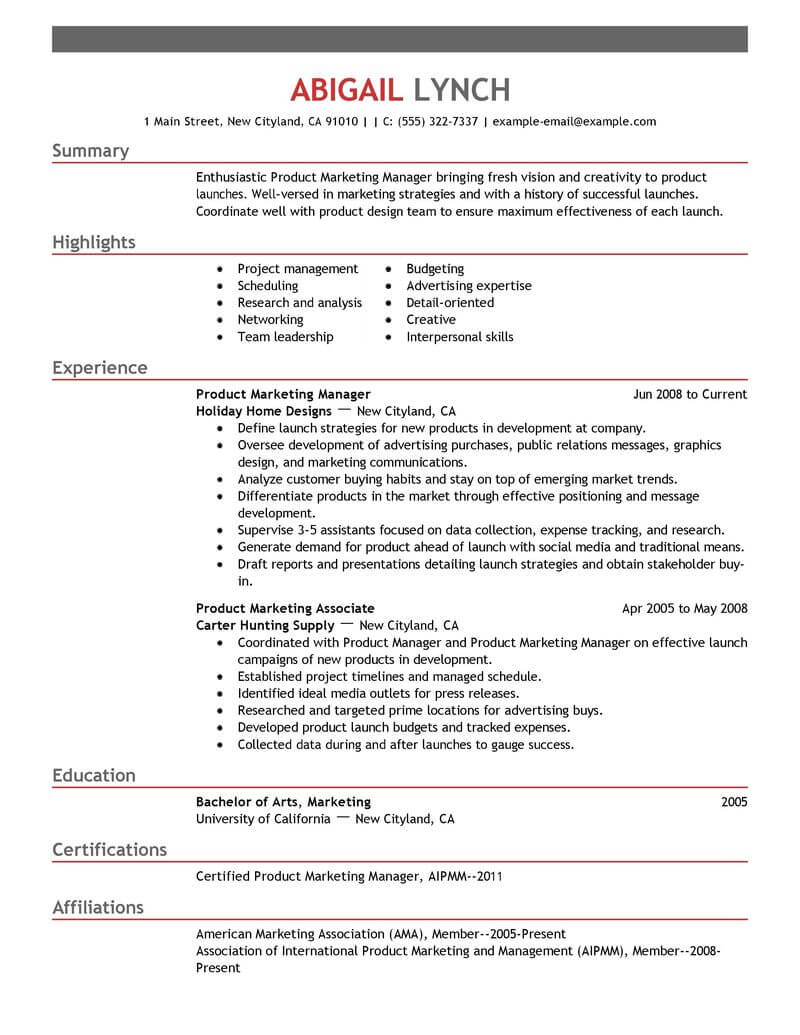 top mba resume samples examples for professionals livecareer admission product marketer Resume Mba Admission Resume Examples