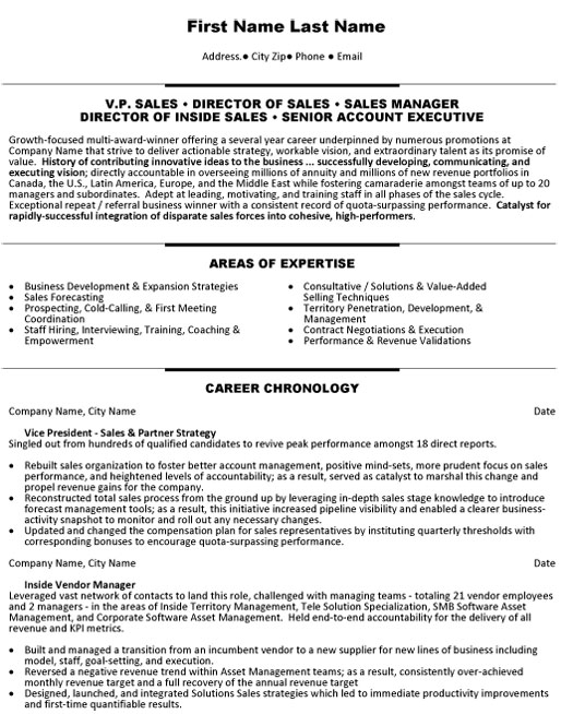 top resume templates samples inside template vp director manager account executive sample Resume Inside Sales Resume Template