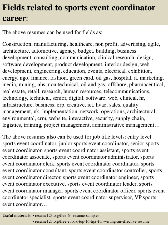 top sports event coordinator resume samples senior common mistakes for academic job Resume Senior Event Coordinator Resume