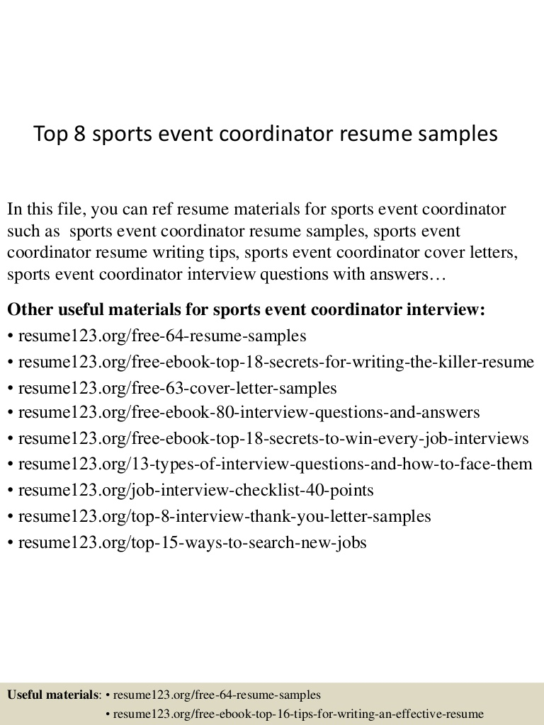 top sports event coordinator resume samples specialist Resume Event Specialist Resume