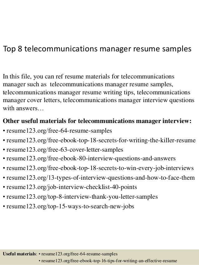 top telecommunications manager resume samples telecom product sample for medical coding Resume Telecom Product Manager Resume