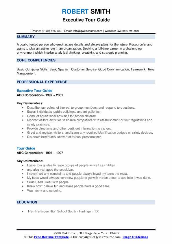 tour guide resume samples qwikresume to good pdf writing career summary sample format for Resume Guide To A Good Resume