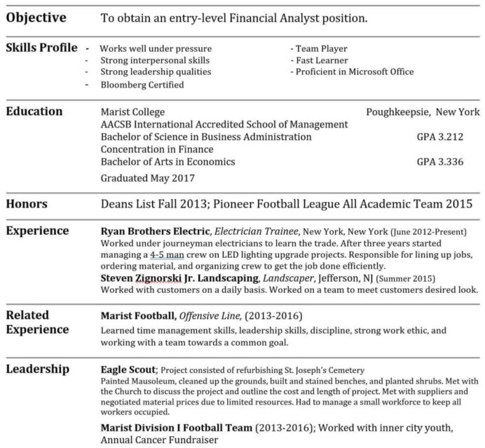 tricks to hack your investment banking resume with no experience not much work template Resume Resume With Not Much Work Experience