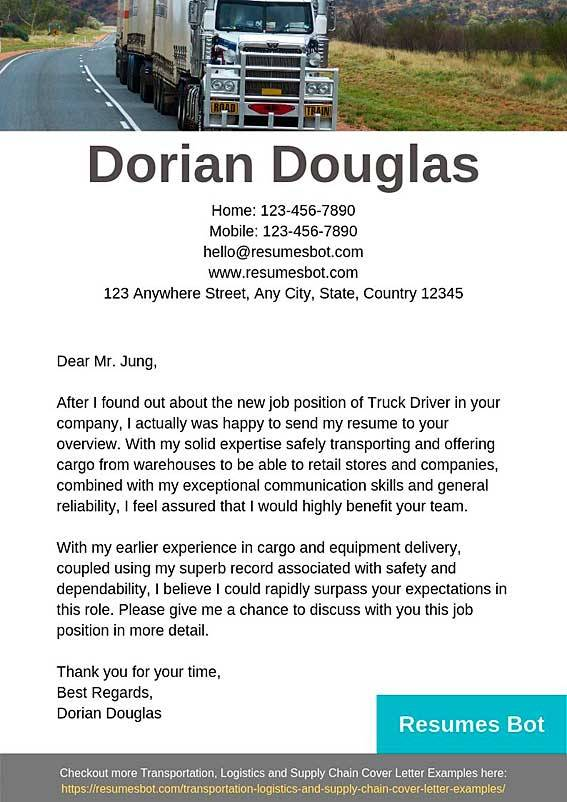 truck driver cover letter samples templates pdf word letters rb another for delivery Resume Another Word For Delivery Driver For Resume