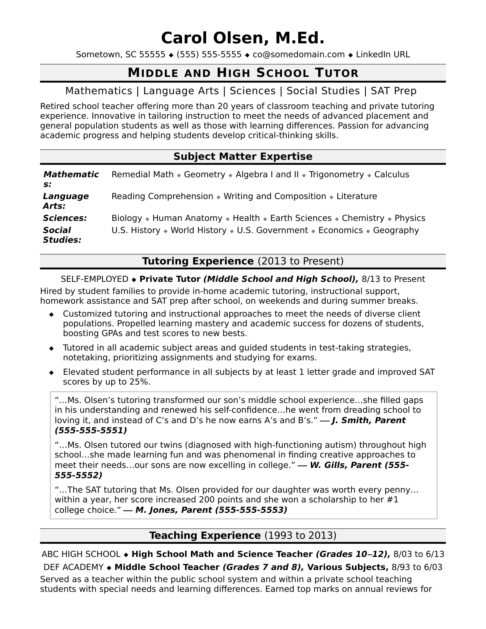 tutor resume sample monster responsibilities of for formatting tips professional examples Resume Responsibilities Of A Tutor For Resume