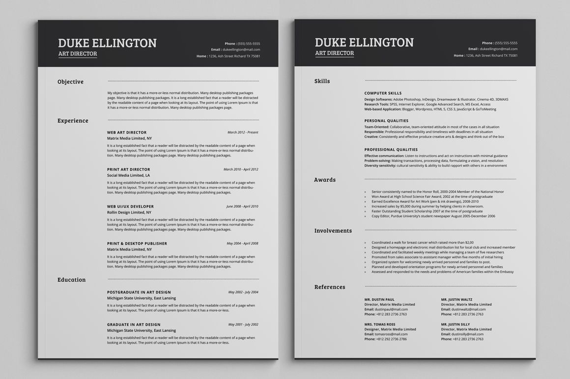 two classic resume cv template unique word downloadable format phone icon for food Resume 2 Page Resume Format
