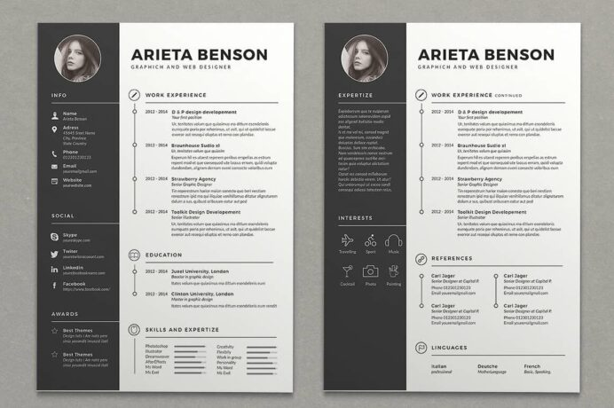 two column resume templates to free included template word nursing student examples of Resume Free Two Column Resume Template Word