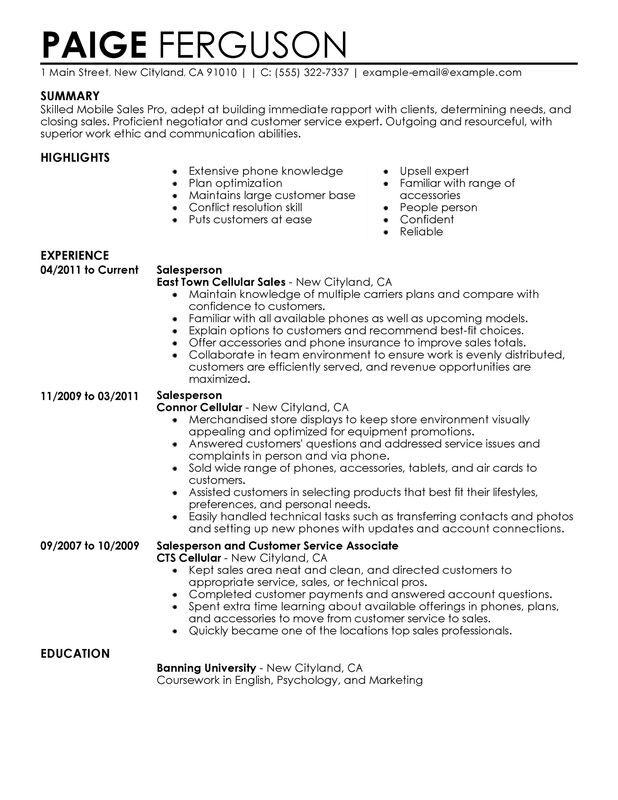 unforgettable pro resume examples to stand out myperfectresume retail preparation sites Resume Retail Sales Resume Examples
