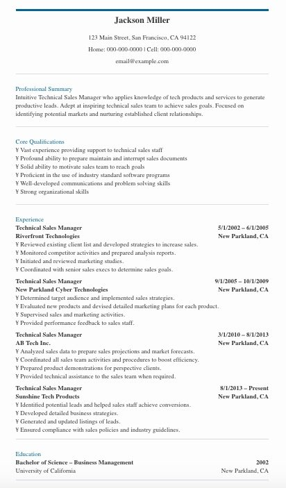 use these manager resume tips templates to get the job sample technical interests section Resume Sales Manager Resume Sample