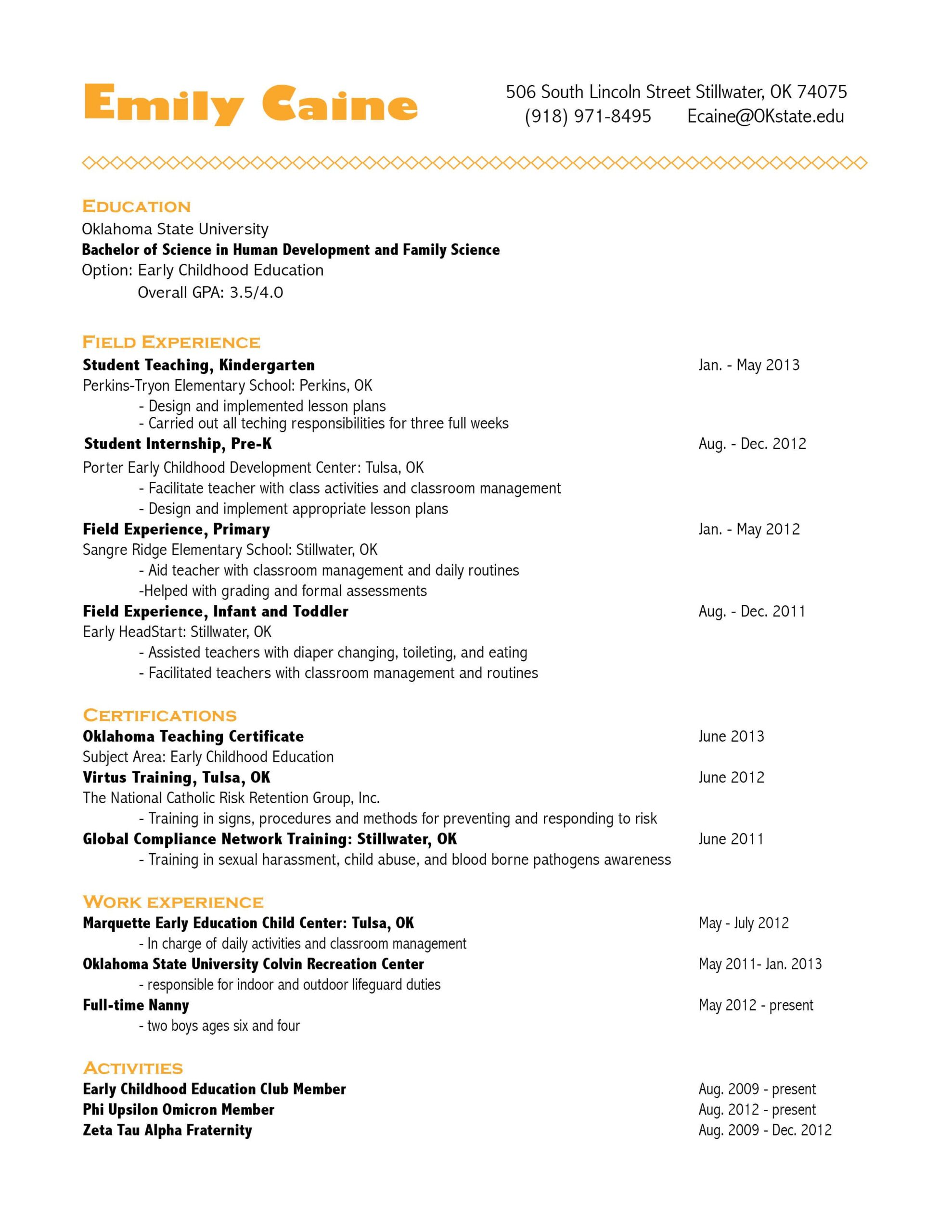 very clean with color flair visual resume professional writers family science writing Resume Tulsa Resume Writing Services