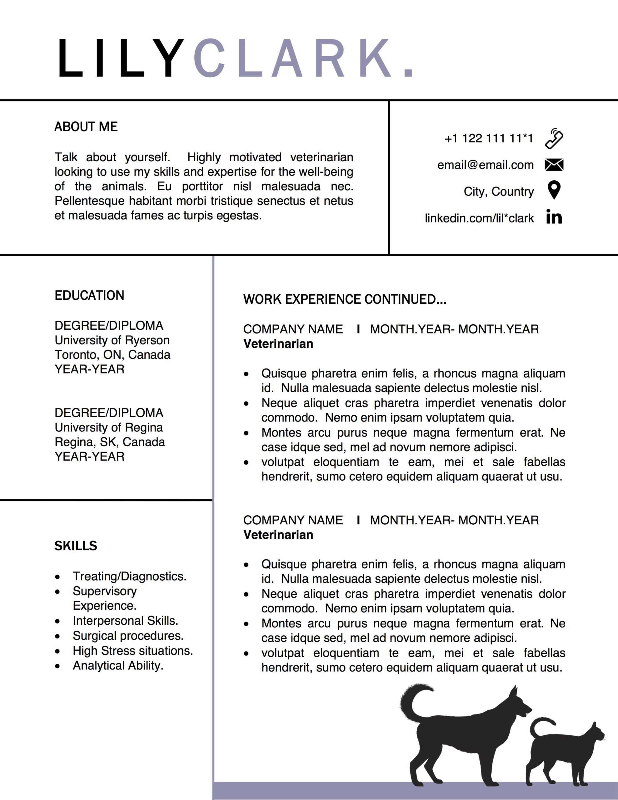 veterinarian resume vet grad template for word veterinary design graduate student cover Resume Resume Format For Veterinarians
