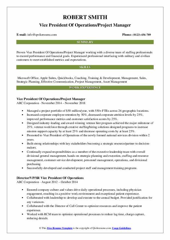 vice president of operations resume samples qwikresume pdf for high school student first Resume Vice President Of Operations Resume