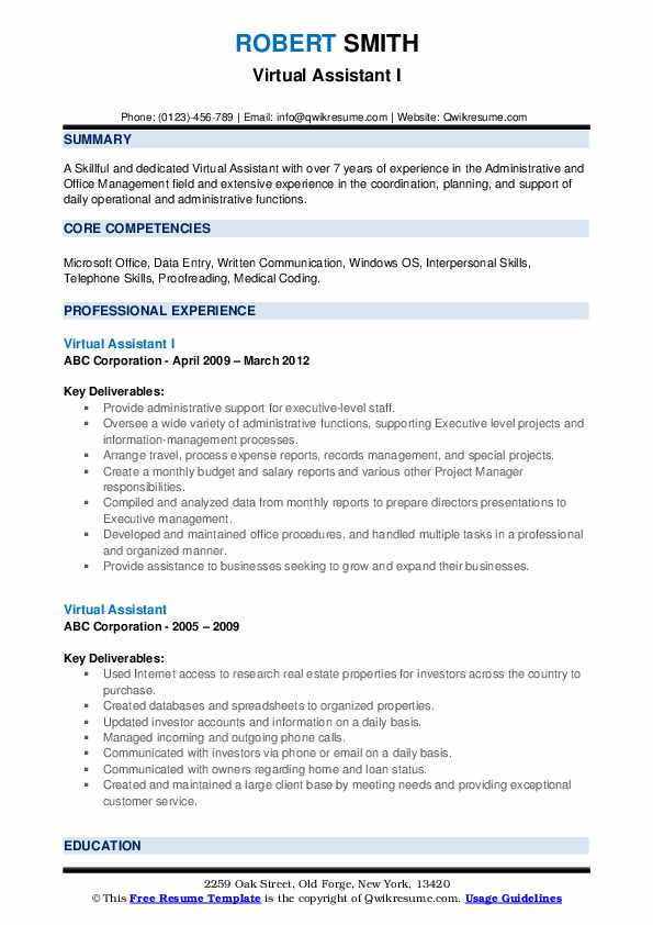 virtual assistant resume samples qwikresume personal skills pdf vp level stacey abrams Resume Personal Assistant Skills Resume