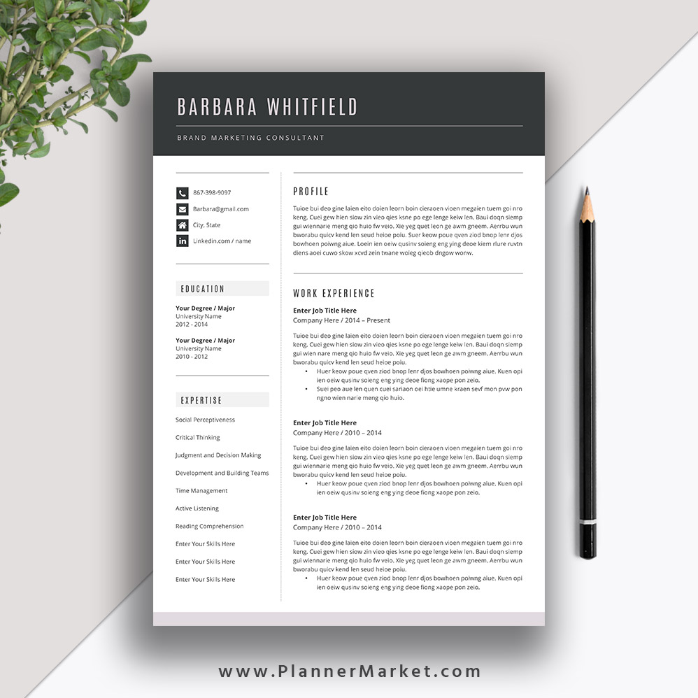 want your resume stand out try this beautiful template with matching cover letter Resume Resume Templates That Stand Out