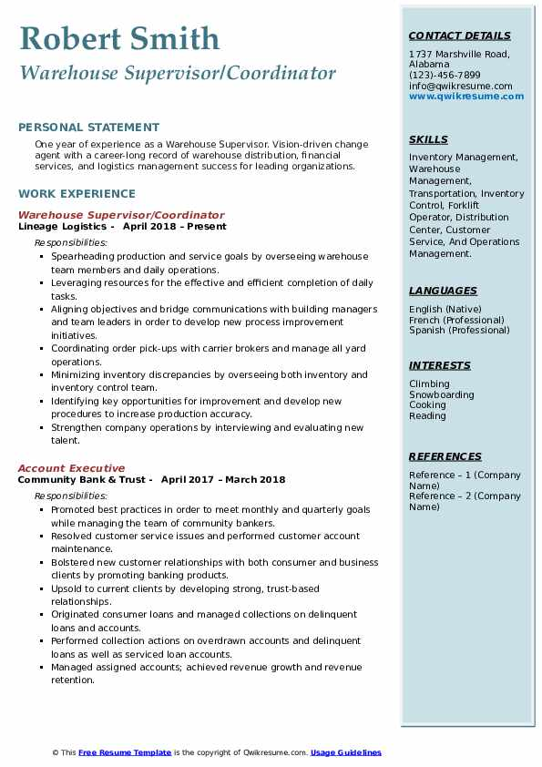 warehouse supervisor resume samples qwikresume best distribution services pdf hospitality Resume Best Resume Distribution Services