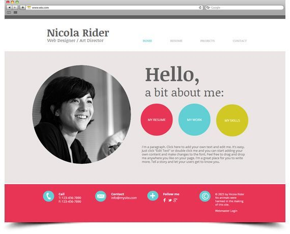 wix template create your own digital resume portfolio website for potential employers Resume Digital Resume Portfolio