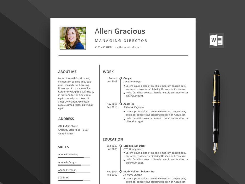 word resume template free daily mockup 1024x768 security guard objective military service Resume Resume Template 2020 Free