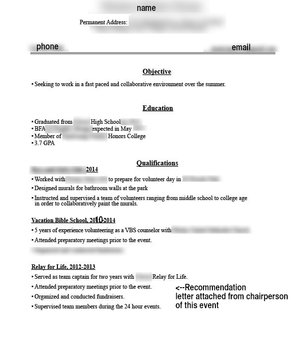 2nd year college student this is resume for my first job does look okay jobs ivjt5m6 Resume Resume First Year College Student