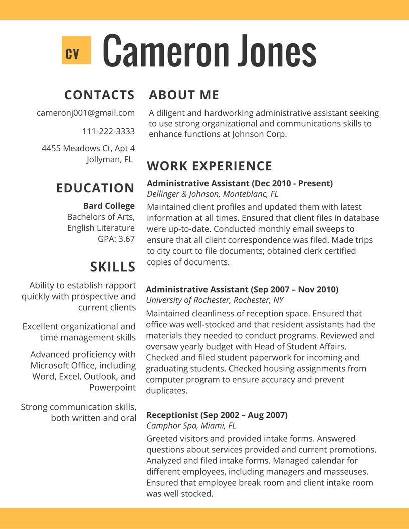 about examples resume best ideas free sample templates microsoft word format for cma Resume About Me Resume Examples