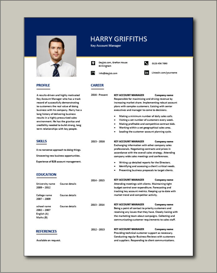 account manager resume customers job description cv example sample skills ability free Resume Account Manager Resume Sample