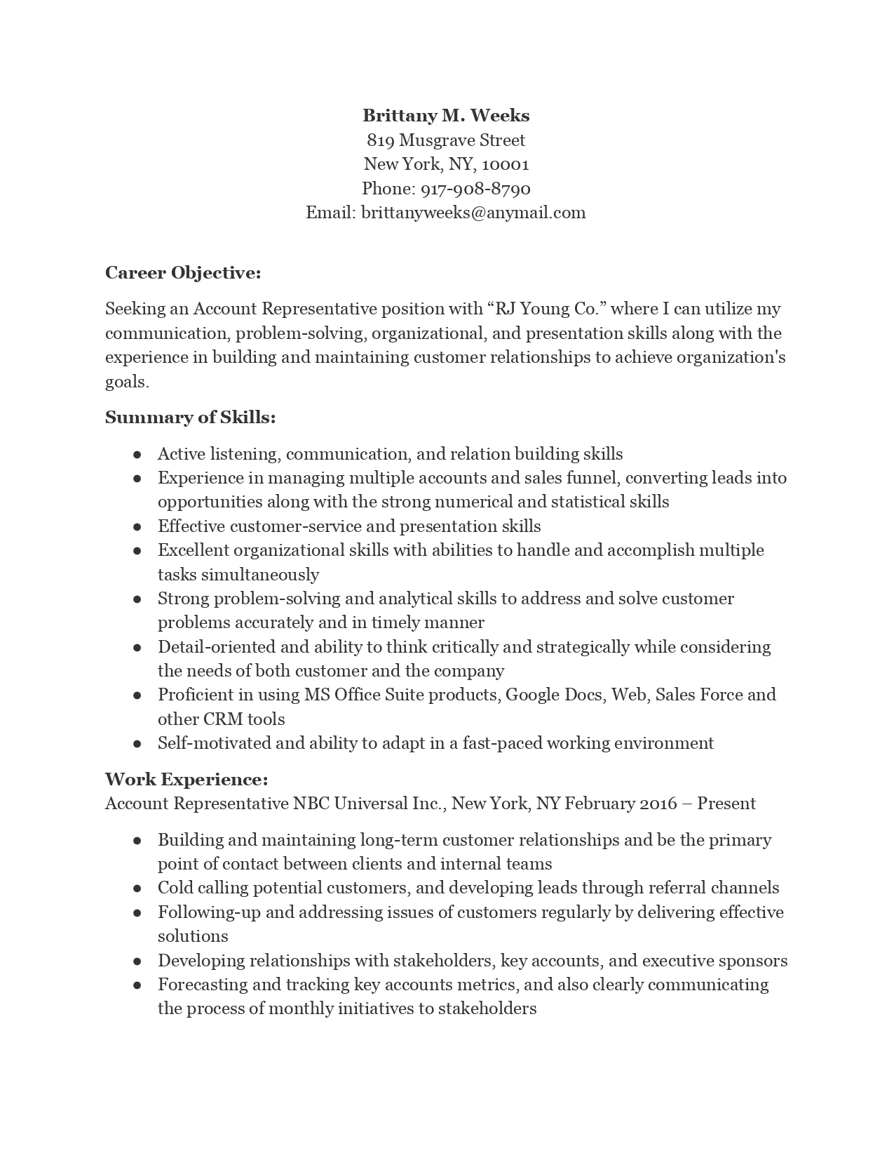 account representative resume requirements film example winway deluxe review actionable Resume Account Representative Resume