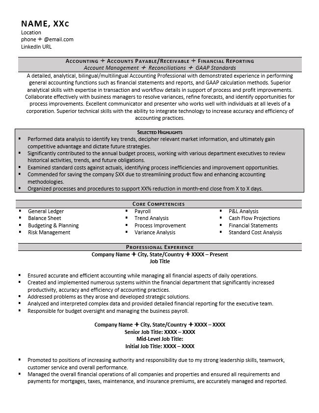accountant resume example tips senior property accounting for btech cse student fresher Resume Senior Property Accountant Resume