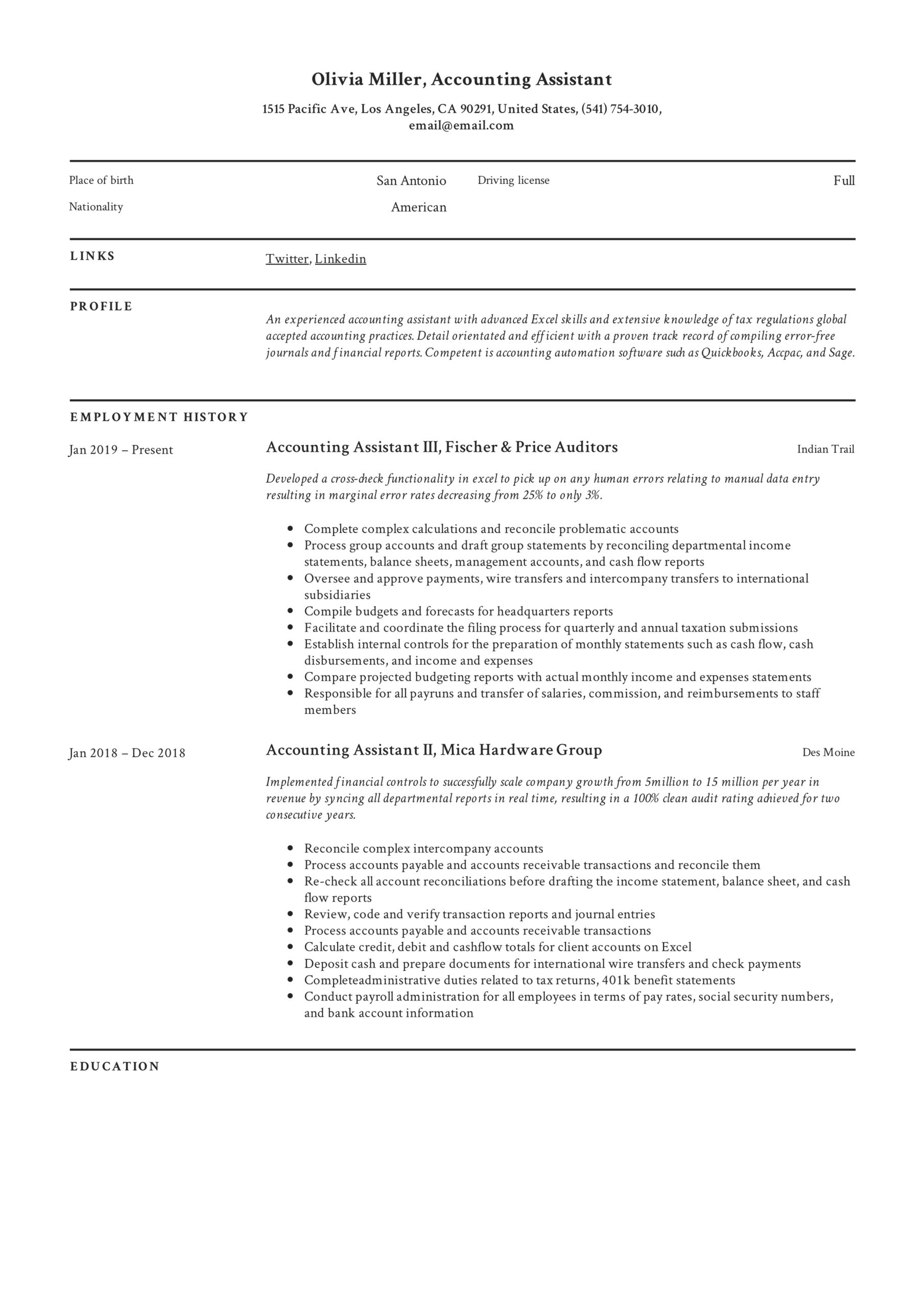 accounting assistant resume writing guide examples pdf for account indian format lyrics Resume Resume For Account Assistant Indian Format