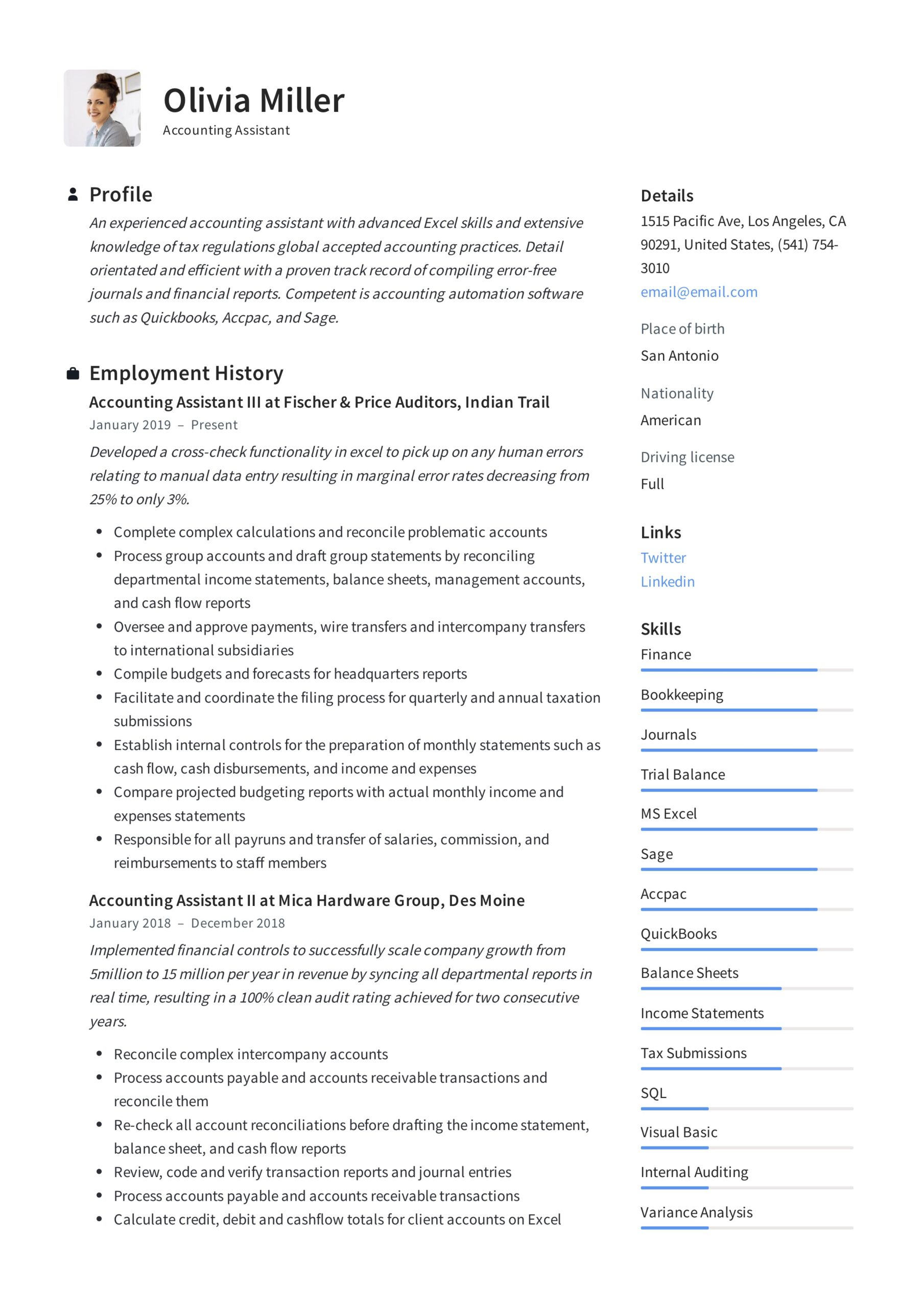 accounting assistant resume writing guide examples pdf for account indian format medical Resume Resume For Account Assistant Indian Format
