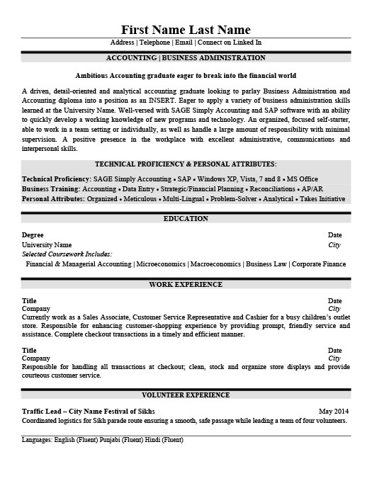 accounting business administration resume template premium samples example bachelor of Resume Bachelor Of Business Administration Resume Sample