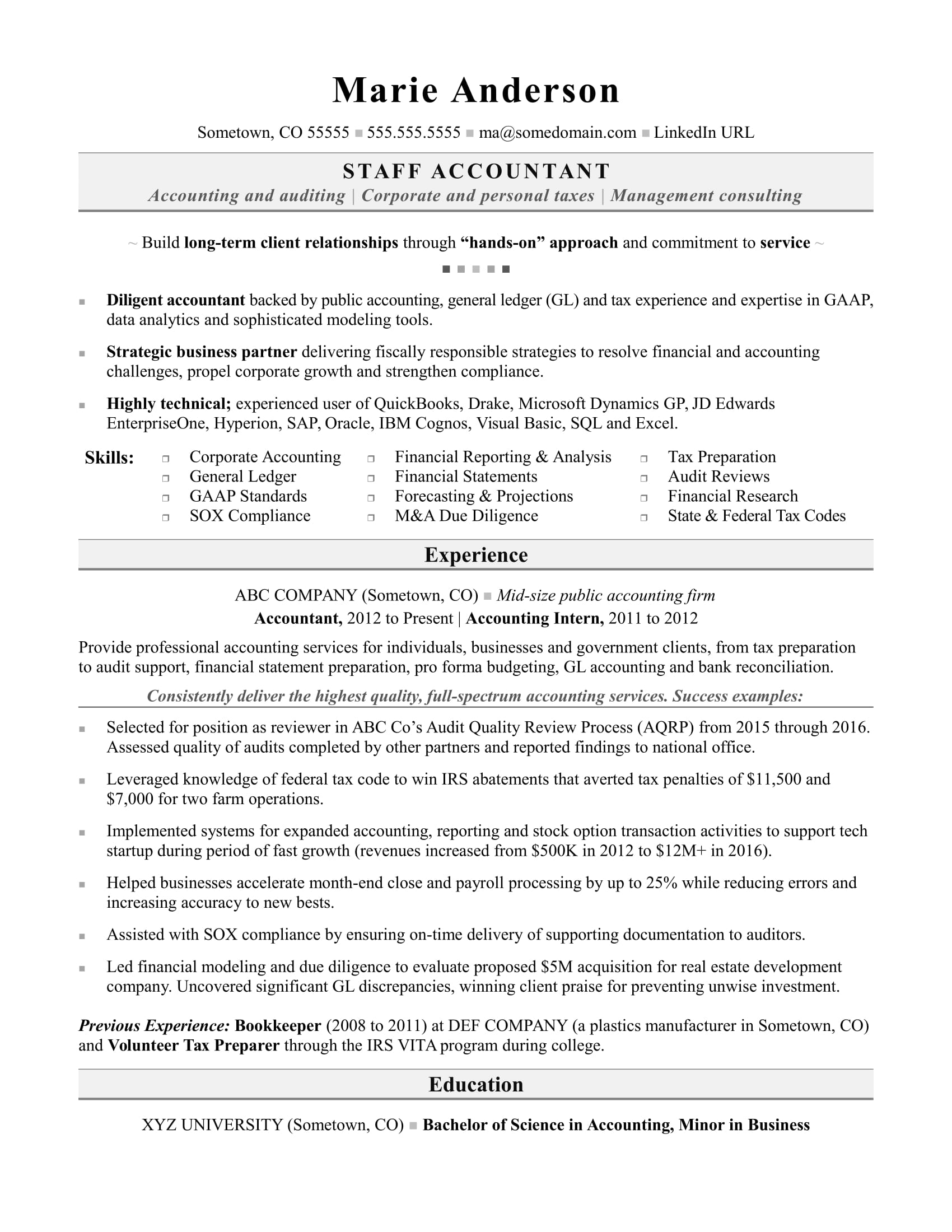 accounting resume sample monster free template for term employment accountant indesign Resume Free Resume Template For Long Term Employment