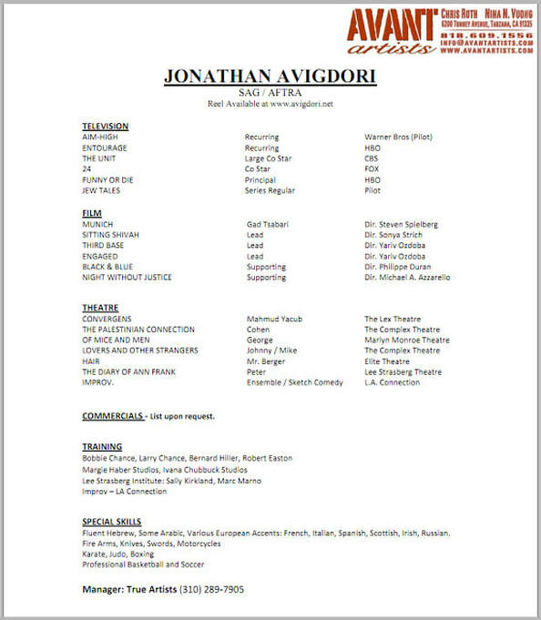 actor resume nancy chartier studios professional acting template fake master cls talent Resume Professional Acting Resume Template